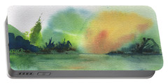 Lake Sunset Portable Battery Charger by Frank Bright