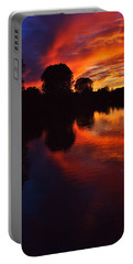 Lake Sunset Reflections Portable Battery Charger