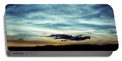 Lake Sunset Portable Battery Charger by Scott Meyer