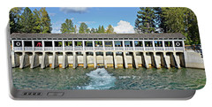 Portable Battery Charger featuring the photograph Lake Tahoe Dam by David Lawson