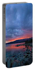 Lake Tahoe Sunset Portrait 2 Portable Battery Charger