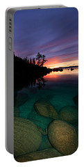 Lake Tahoe Sunset Portrait Portable Battery Charger