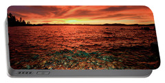 Lake Tahoe...blood Moon Sunset Portable Battery Charger