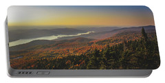 Lake Tremblant At Sunset Portable Battery Charger