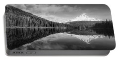 Portable Battery Charger featuring the photograph Lake Trillium In Black And White by Lynn Hopwood