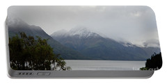 Lake Wanaka On A Rainy Spring Day Portable Battery Charger