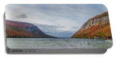 Lake Willoughby Blustery Fall Day Portable Battery Charger