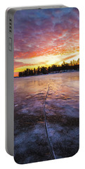 Lake Winnipesaukee January Sunrise Portable Battery Charger