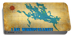 Lake Winnipessaukee New Hampshire Vintage Print  Portable Battery Charger