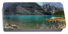 Lake With Kayaks Portable Battery Charger