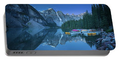 Portable Battery Charger featuring the photograph Lake With Moon At Four Am by William Lee