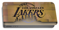 Lakers Skyline Portable Battery Charger