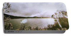 Lakes In Sunset Portable Battery Charger