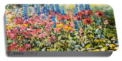 Lakeside Garden Portable Battery Charger by Alexandra Maria Ethlyn Cheshire