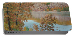Lakeside In October Portable Battery Charger