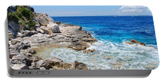 Lakka Coastline On Paxos Portable Battery Charger