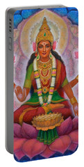 Lakshmi Blessing Portable Battery Charger by Sue Halstenberg