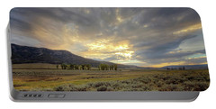 Lamar Valley Sunset Portable Battery Charger