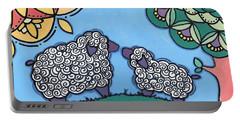 Lamb And Mama Sheep Portable Battery Charger