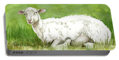 Lamb In Spring Portable Battery Charger