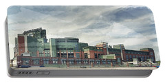 Portable Battery Charger featuring the photograph Lambeau Field Painterly Edition by Joel Witmeyer