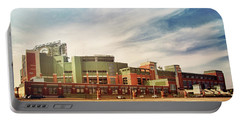 Portable Battery Charger featuring the photograph Lambeau Field Retro Feel by Joel Witmeyer