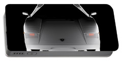 Lamborghini Countach 5000 Qv 25th Anniversary - Front View  Portable Battery Charger