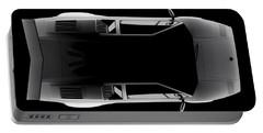 Lamborghini Countach 5000 Qv 25th Anniversary - Top View Portable Battery Charger