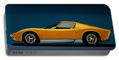 Lamborghini Miura 1966 Painting Portable Battery Charger