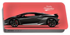 Lamborghini Sesto Elemento Portable Battery Charger by Mark Rogan
