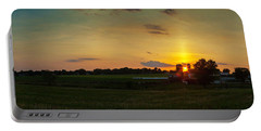 Lancaster Farm Sunset Panorama Portable Battery Charger