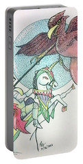 Lancelot And Griffin  Portable Battery Charger by Loretta Nash