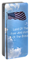 Land Of The Free Portable Battery Charger by Joann Copeland-Paul