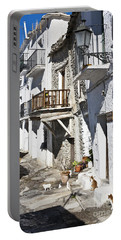 Portable Battery Charger featuring the photograph Street In Capileira Puebla Blanca by Heiko Koehrer-Wagner