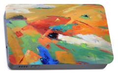 Portable Battery Charger featuring the painting Landforms, Suggestion Of Place by Gary Coleman