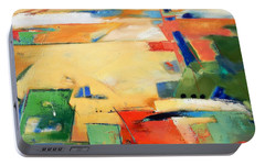 Portable Battery Charger featuring the painting Landforms, You've Never Been Here by Gary Coleman