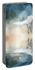 Landing At Dawn Portable Battery Charger by Cyndy Doty