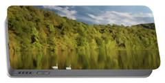Landingville Lake Pennsylvania Portable Battery Charger by David Dehner