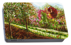 Portable Battery Charger featuring the painting Landscape 2 by Harsh Malik