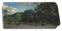 Landscape At Chailly Portable Battery Charger