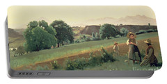 Landscape At Mornex Portable Battery Charger by Jean Baptiste Corot