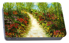 Portable Battery Charger featuring the painting Landscape by Harsh Malik