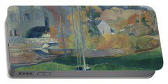 Landscape In Brittany, The David Mill Portable Battery Charger