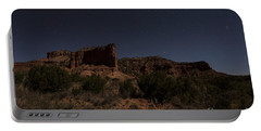 Portable Battery Charger featuring the photograph Landscape In The Moonlight by Melany Sarafis