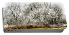 Landscape In Winter Portable Battery Charger