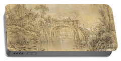 Landscape With A Rustic Bridge Portable Battery Charger