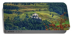 Portable Battery Charger featuring the photograph Landscape With Castle by Hanny Heim