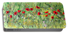Landscape With Poppies Portable Battery Charger