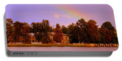 Landscape With Rainbow Portable Battery Charger