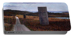 Landscape With Silos Portable Battery Charger